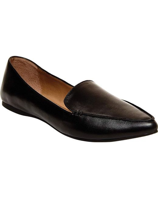 b88a5f235b5 Lyst - Steve Madden Feather Womens Loafers in Black - Save 29%