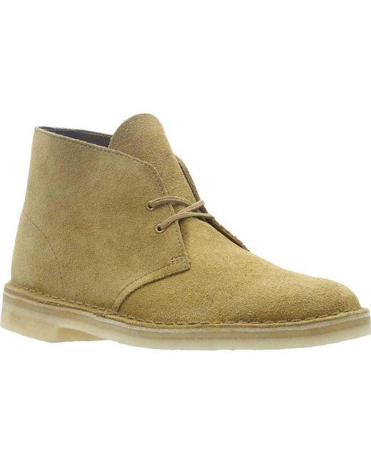 6c9b6884125c Lyst - Clarks Desert Boot in Green for Men - Save 32%