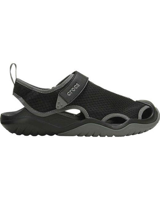 0a4b94fe6813 Crocs™ - Black Swiftwater Mesh Deck Closed Toe Sandal for Men - Lyst ...