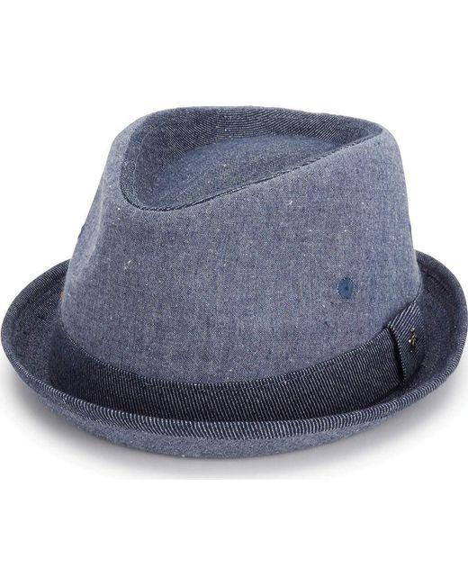 Original Penguin - Blue Chambray Porkpie for Men - Lyst