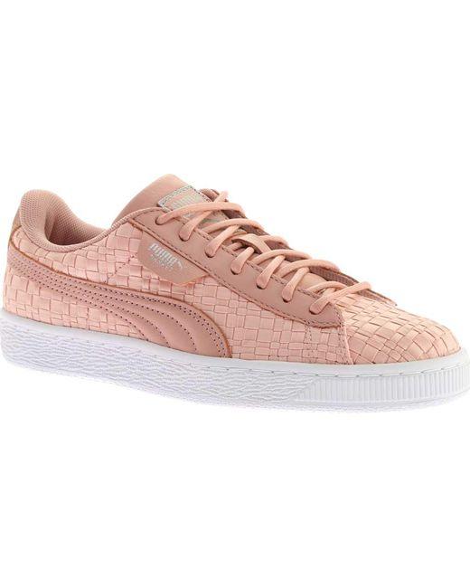 18b453bbbd1227 PUMA - Pink Basket Satin En Pointe Sneaker - Lyst ...