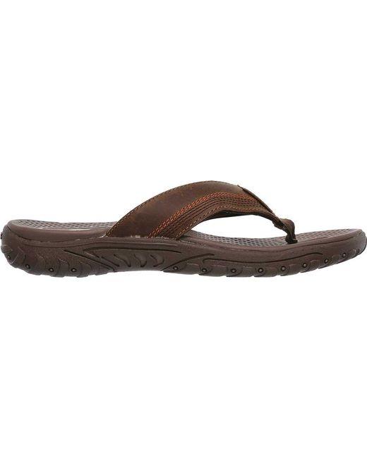 086275045 ... Skechers - Brown Relaxed Fit Reggae Cobano Thong Sandal for Men - Lyst  ...
