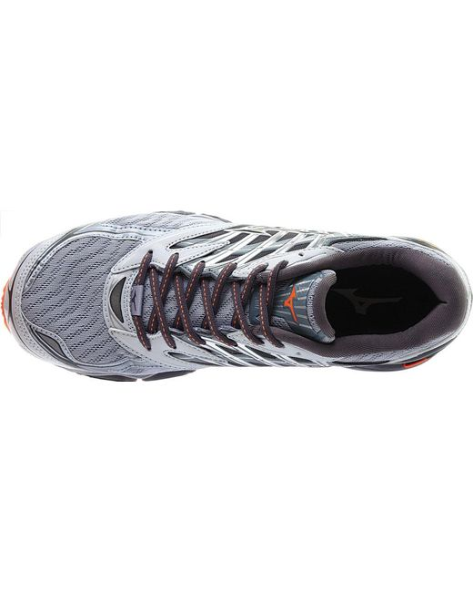 d2ae2b02523a ... Mizuno - Gray Wave Prophecy 8 Running Shoe for Men - Lyst ...