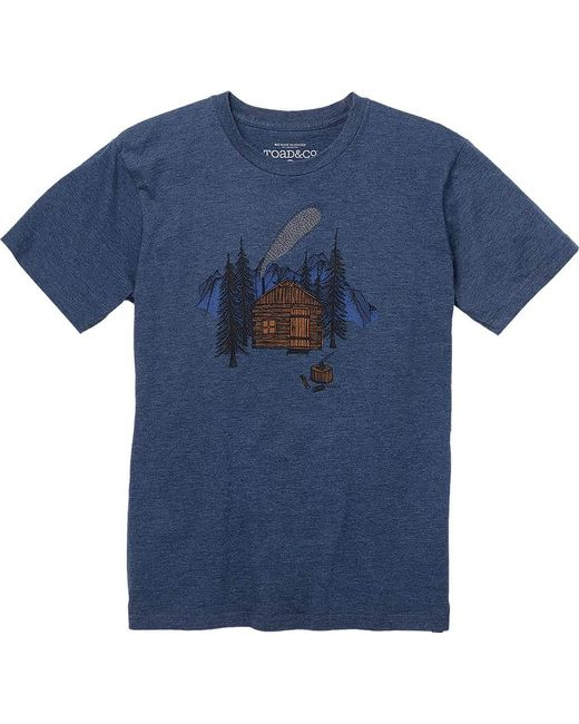 Toad&Co | Blue Cabin Season Short Sleeve Graphic Tee for Men | Lyst