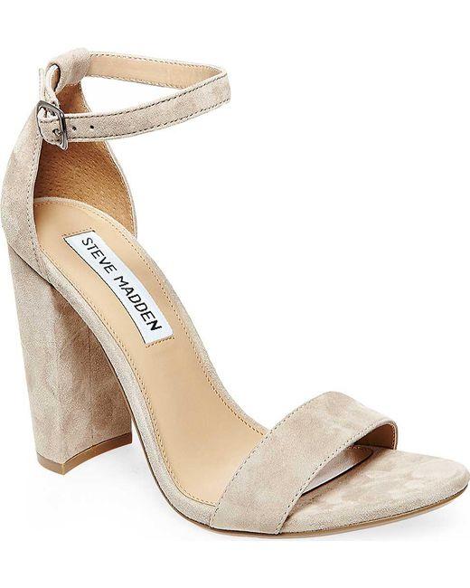 Steve Madden Carrson Ankle Strap Sandal(Women's) -Blue Velvet Big Discount Cheap Price 5FT22