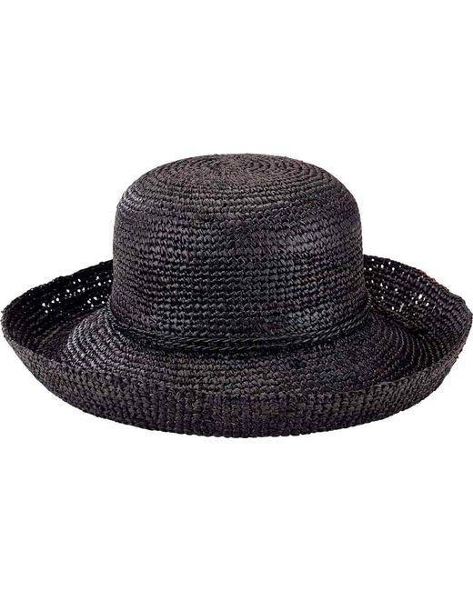 d6cac7ab907 San Diego Hat Company - Black Crochet Raffia Kettle Brim Hat Rhm6004 - Lyst