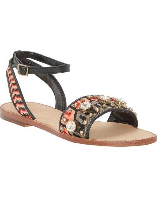 Vince Camuto Embroidered Sandals w/ Ankle Strap - Akitta websites online CFBVoDsV0T