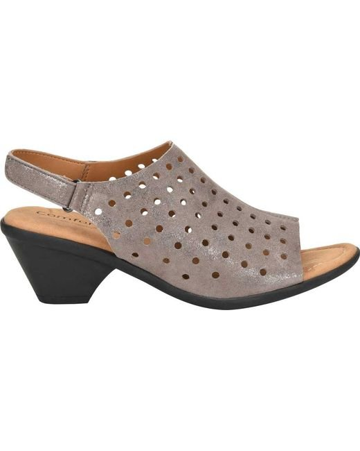 Comfortiva Fern Foil Suede Slingback Sandals LICS9