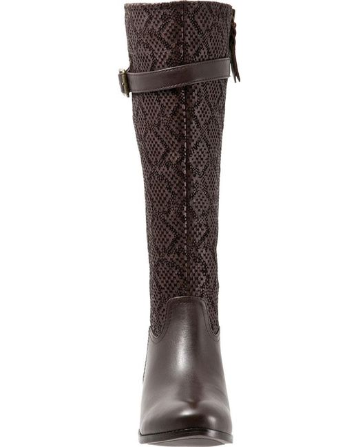 d68b587bcc4 ... Trotters - Brown Lyra Wide Calf Boot - Lyst ...
