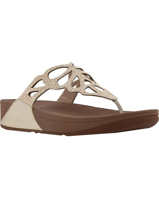 Fitflop - Metallic Bumble Wedge Thong Sandal - Lyst