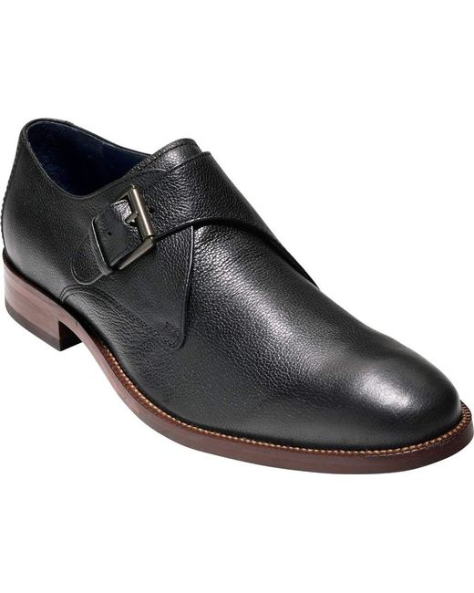 Cole Haan Williams Leather Monk Strap Shoes