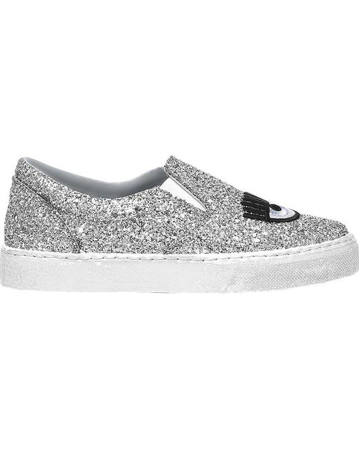 Fluo flirting slip-on sneakers - Metallic Chiara Ferragni 7rlvnlOUD