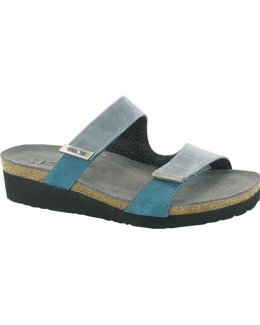 052ab6183546 Naot - Blue Jacey Slide - Lyst ...