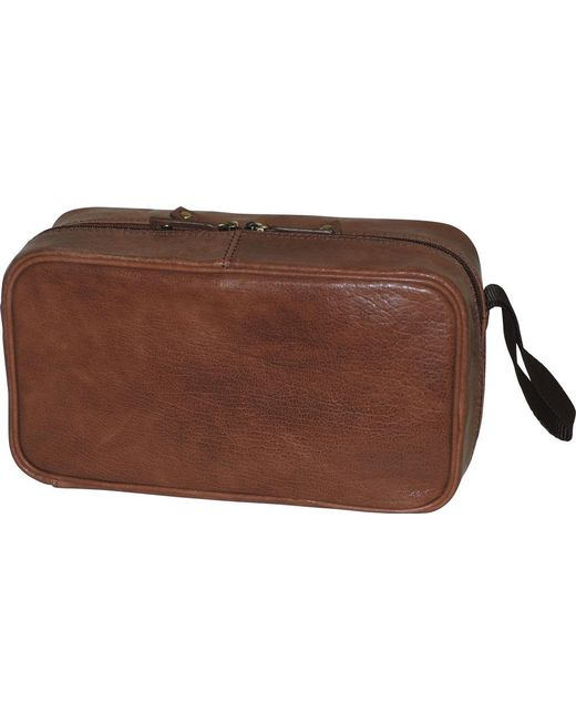 42137661caf5 Dopp - Brown Carson Double Zip Travel Kit - Lyst ... Timberland Mens Leather  Travel Kit Toiletry ...