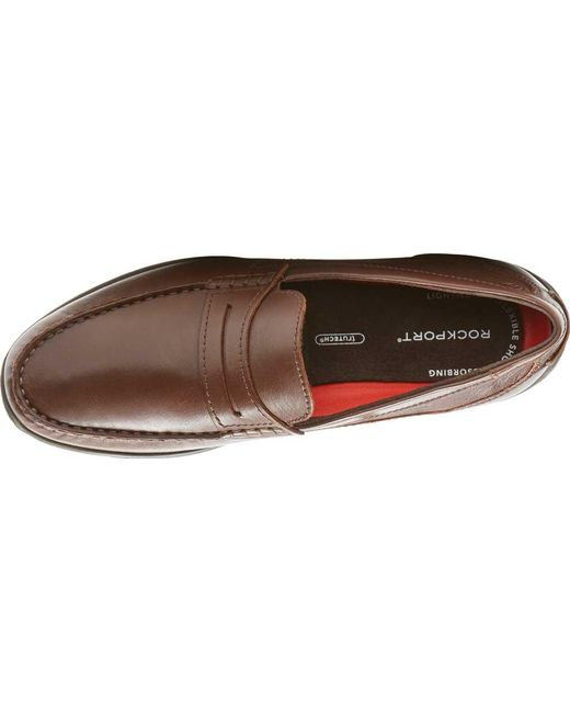 bdd592d89ef ... Rockport - Brown Cullen Penny Loafer for Men - Lyst ...