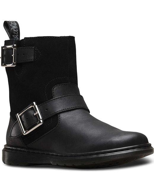Dr. Martens - Black Gayle Fur Lined Low Biker Boot - Lyst