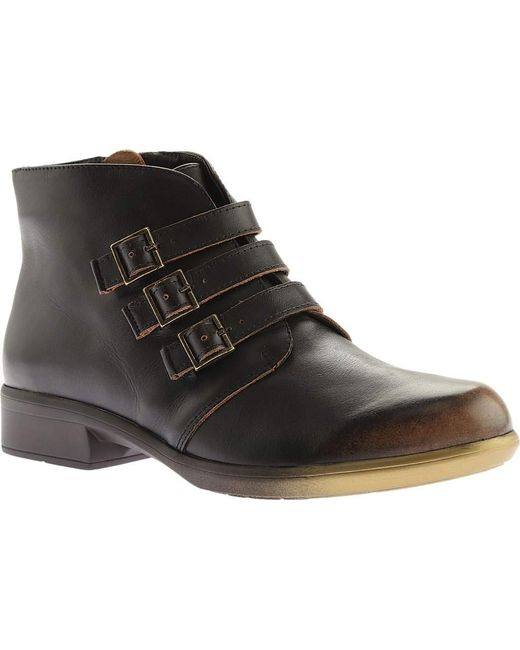 Naot - Brown Calima Buckle Bootie - Lyst