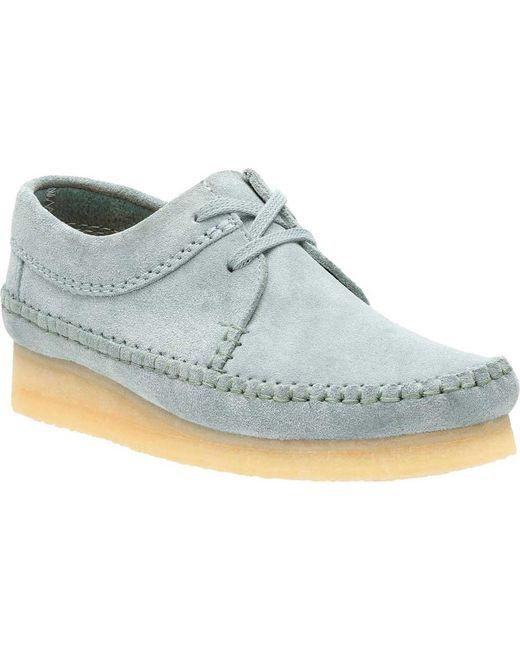 Clarks   Blue Weaver Moc Toe Shoe   Lyst