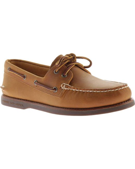 Sperry Top-Sider - Brown Gold A/o 2-eye Moc Toe Boat Shoe for Men - Lyst