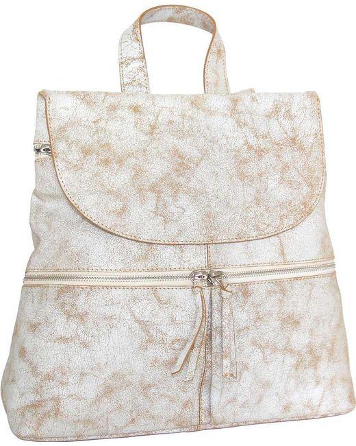 Nino Bossi - White Sheri Leather Backpack - Lyst