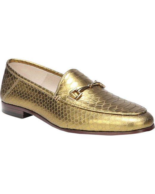 Sam Edelman Woman Loraine Metallic Croc-effect Leather Loafers Size 5 7lXx2