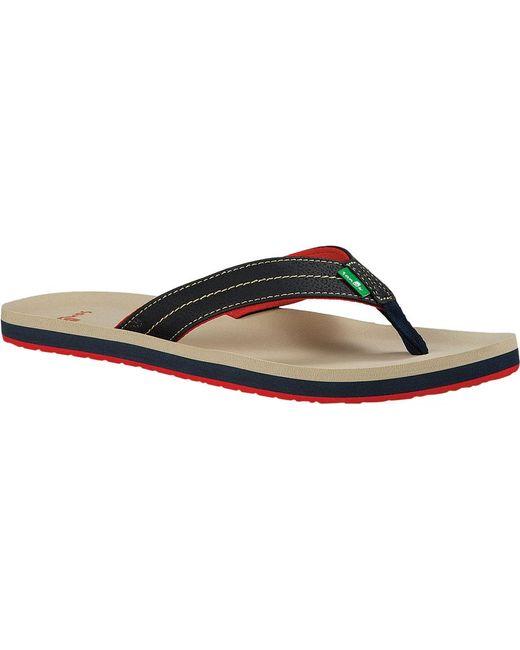 Sanuk | Multicolor Burm Thong Sandal for Men | Lyst ...