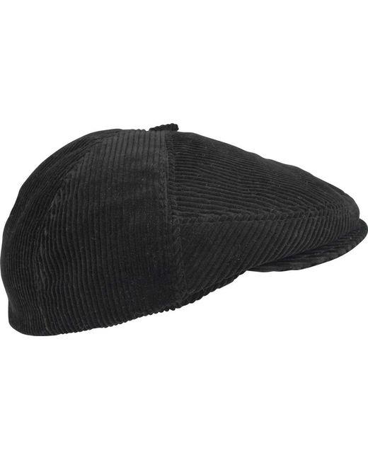 c4372dd6e34089 Ricardo B.H. - Black Polo Corduroy Flat Cap for Men - Lyst ...