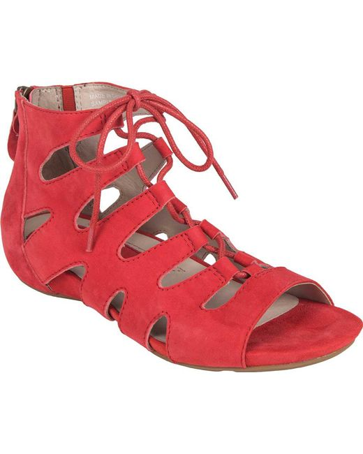 Earthies - Red Roma Gladiator Sandal - Lyst
