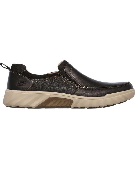 Latest Sale Online Skechers Ryler Merano Loafer(Men's) -Brown Discount 2018 Best Sale Outlet Recommend UpWA8tVEo
