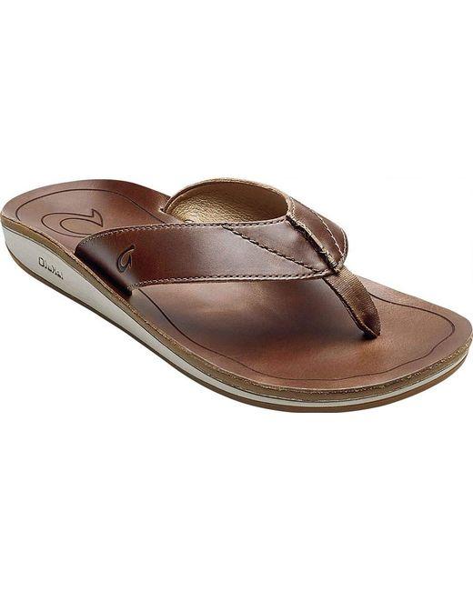 d4a32cf0d5629 Olukai - Brown Nohona  ili Thong Sandal for Men - Lyst ...