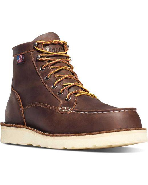 danner bull run moc toe 6 quot cristy steel toe boot in brown