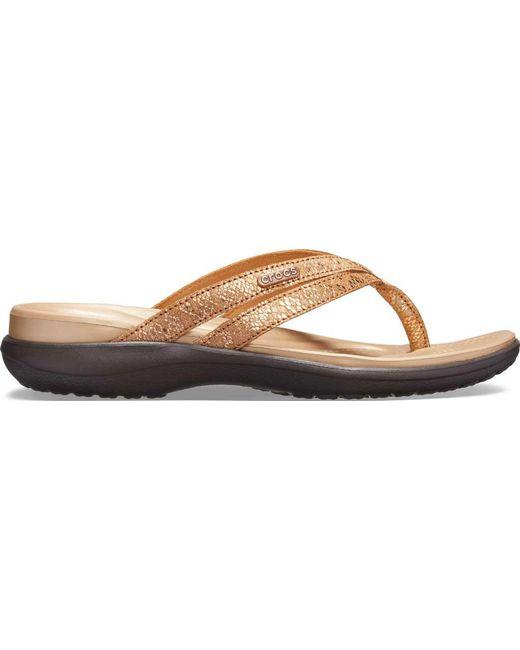 6baa9c850374 ... Crocs™ - Multicolor Capri Strappy Flip - Lyst ...