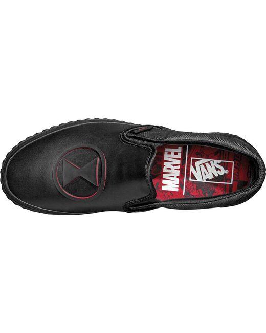 ae9a2b7cd0 ... Vans - Black Classic Marvel Slip-on for Men - Lyst ...