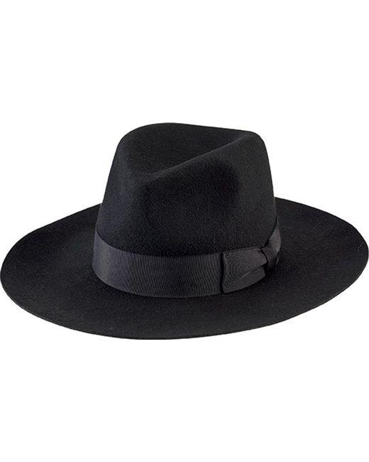ce4237b56e080 San Diego Hat Company - Black Wide Flat Brim Fedora With Grosgrain Bow  Wfh8040 - Lyst