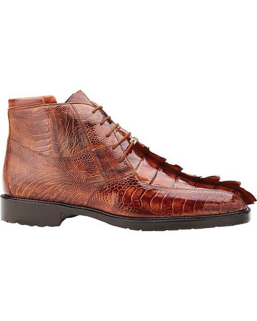 Popular Online Belvedere Barone Lace Up Boot(Men's) -Brandy/Antique Brown Crocodile/Ostrich Recommend For Sale Visit New Cheap Online Buy Cheap Cheap f2hlb7QrNb