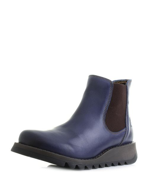 Fly London - Blue Salv Rug Chelsea Boots - Lyst