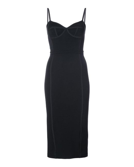 T By Alexander Wang | Black Sleeveless Fitted Dress | Lyst