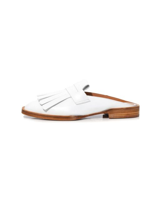 Robert Clergerie - Yumi Flat In White - Lyst