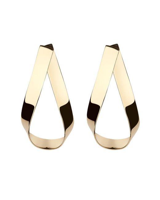 Jennifer Fisher | Metallic Gold Script Doorknocker Earrings | Lyst