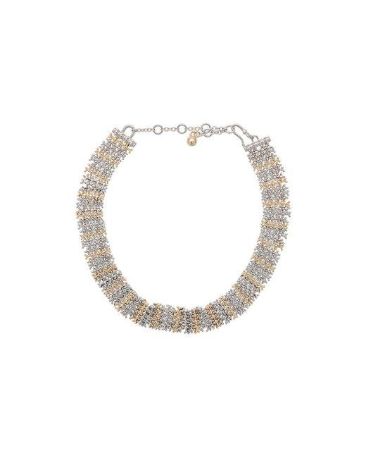 Eddie Borgo | Metallic Contrast Collar Necklace | Lyst