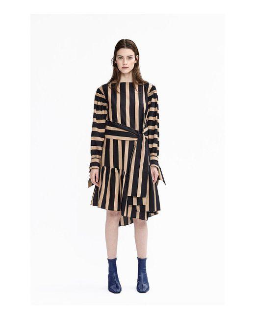 3.1 Phillip Lim - Black Camel Tie Front Dress - Lyst