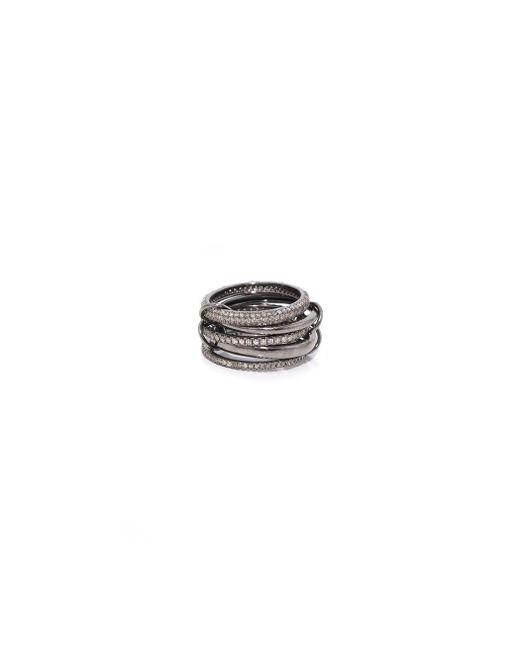 Theodosia - Gray 5 Part Oxidized Silver Ring - Lyst