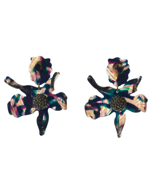 Lele Sadoughi | Blue Twilight Crystal Lily Earrings | Lyst