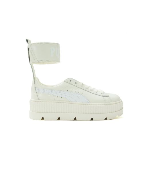 PUMA - White Fenty X By Rihanna Ankle Strap Sneakers - Lyst