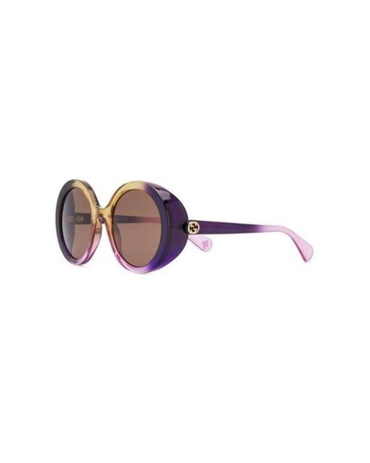 c5dbf297bcf4d ... Gucci - Multicolor Glamourous Bold Round Sunglasses - Lyst ...