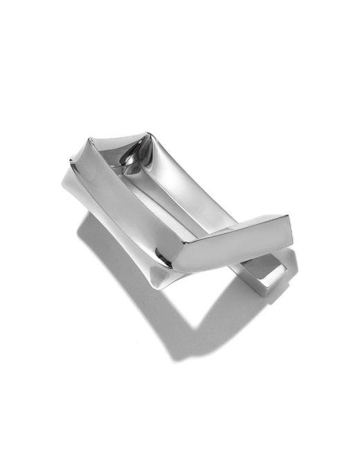 Proenza Schouler - Metallic Rhodium Medium Square Bracelet - Lyst