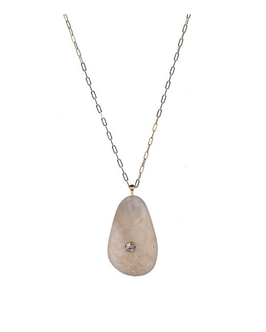 Cvc Stones | Metallic Gold Tone & Pink 'vanta' Long Necklace | Lyst