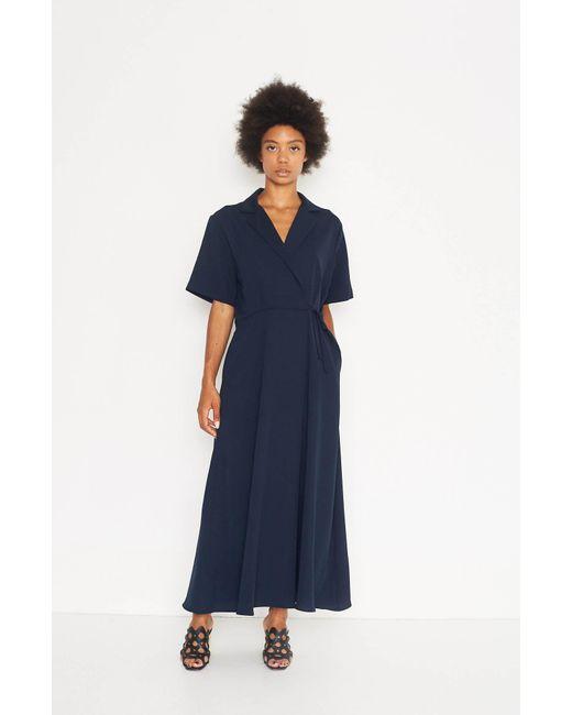 Shaina Mote Blue Mallorca Wrap Dress Lyst