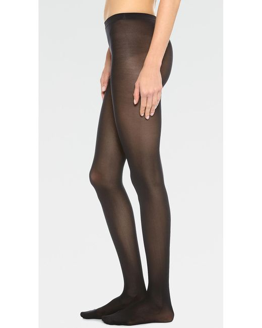 f8dcee16744b4 Wolford - Black Velvet De Luxe 50 Tights - Lyst ...
