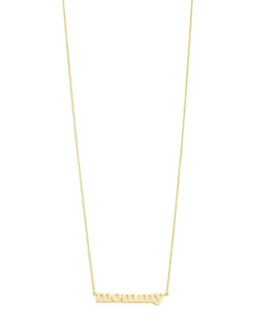 Jennifer Meyer | Metallic Mommy Necklace | Lyst